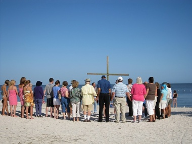 Day 112: Singing After the Marching of the Cross in Cedar Key