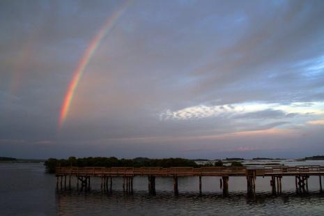 Rainbow Over Cedar Key